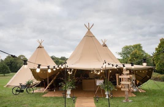 Wedding Marquee, Tee Pee - Wedding Venue - The Hill Farm House